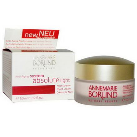 AnneMarie Borlind, System Absolute Light, Anti-Aging Night Cream 50ml