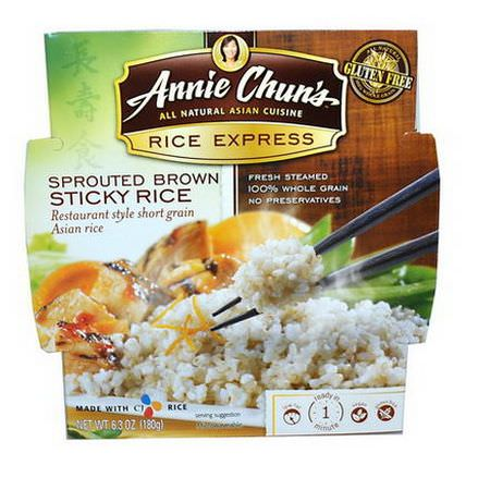Annie Chun's, Rice Express, Sprouted Brown Sticky Rice 180g