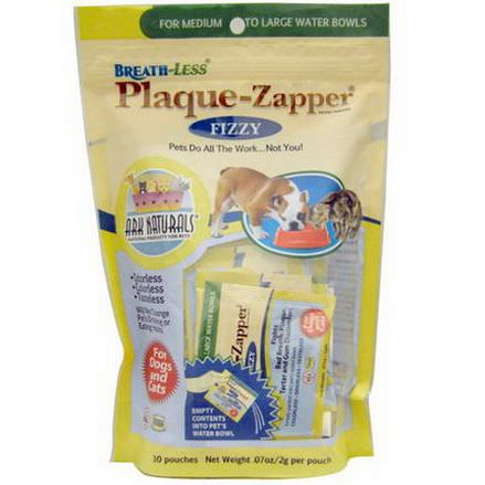 Ark Naturals, Breath-Less, Plaque-Zapper Fizzy for Dogs and Cats, 30 Pouches 2g Each