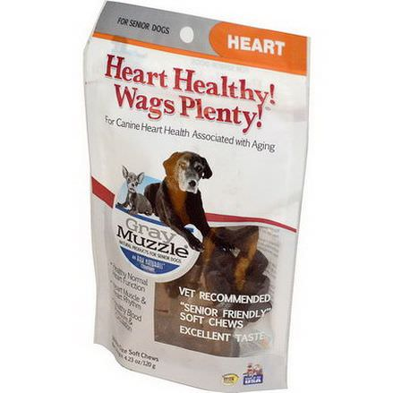 Ark Naturals, Gray Muzzle, Heart Healthy! Wags Plenty, Heart for Senior Dogs, 60 Bite Size Soft Chews 120g