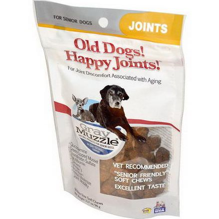 Ark Naturals, Gray Muzzle, Old Dogs! Happy Joints for Senior Dogs, 90 Bite Size Soft Chews 90g