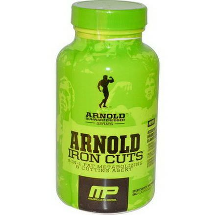 Arnold, Iron Cuts, 3-in-1 Fat Metabolizing&Cutting Agent, 90 Capsules