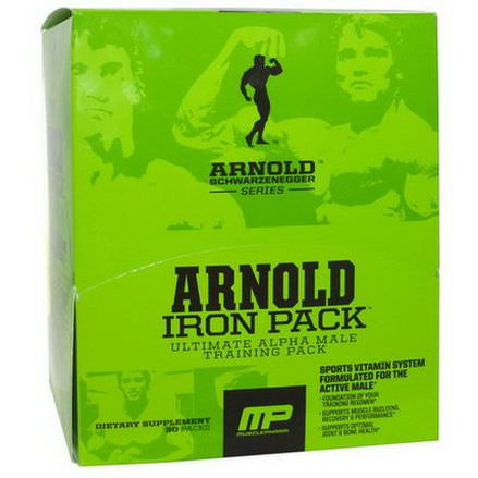 Arnold, Iron Pack, Ultimate Alpha Male Training Pack, 30 Packs