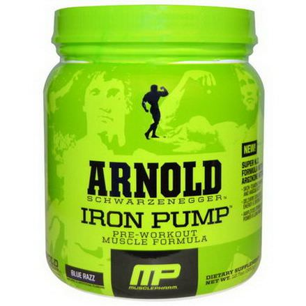 Arnold, Iron Pump, Pre-Workout Muscle Formula, Blue Razz 360g