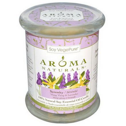 Aroma Naturals, 100% Natural Soy Essential Oil Candle, Serenity, Ylang Ylang&Lavender 260g 3