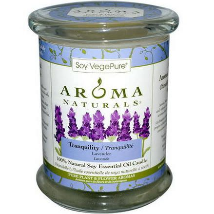 Aroma Naturals, 100% Natural Soy Essential Oil Candle, Tranquility, Lavender 260g
