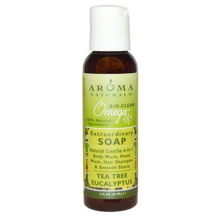Aroma Naturals, Extraordinary Soap, Tea Tree Eucalyptus 59ml