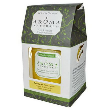 Aroma Naturals, Naturally Blended, Pillar Candle, Ambiance, Orange&Lemongrass, 3