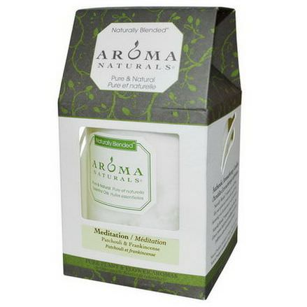 Aroma Naturals, Naturally Blended, Pillar Candle, Meditation, Patchouli&Frankincense, 3