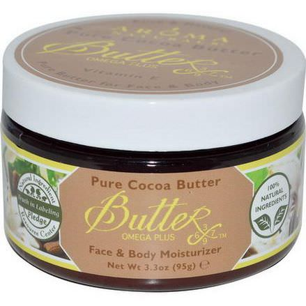 Aroma Naturals, Pure Cocoa Butter with Vitamin E for Face&Body 95g
