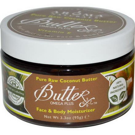 Aroma Naturals, Pure Raw Coconut Butter, Face&Body Moisturizer 95g