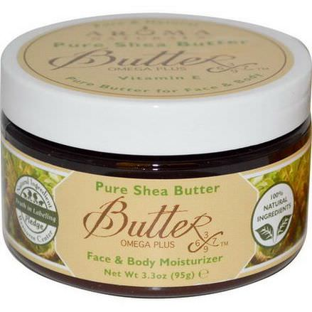 Aroma Naturals, Pure Shea Butter, Face&Body Moisturizer 95g