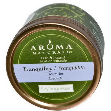 Aroma Naturals, Soy VegePure, Tranquility, Travel Candle, Lavender 79.38g