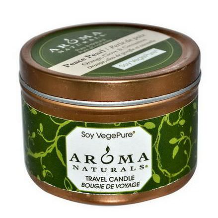 Aroma Naturals, Soy VegePure, Travel Candle, Peace Pearl, Orange, Clove&Cinnamon 79.38g