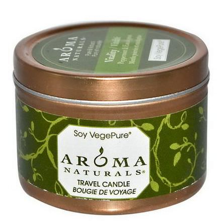 Aroma Naturals, Soy VegePure, Vitality, Travel Candle, Peppermint&Eucalyptus 79.38g