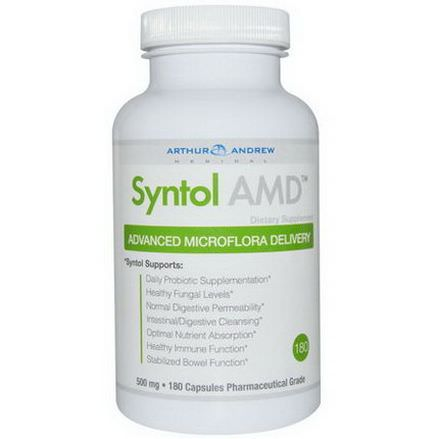 Arthur Andrew Medical, Syntol AMD, Advanced Microflora Delivery, 500mg, 180 Capsules