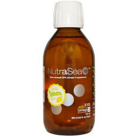 Ascenta, NutraSea HP, Zesty Lemon Flavor 200ml