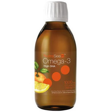 Ascenta, NutraSea, High DHA Omega-3, Juicy Citrus Flavor 200ml