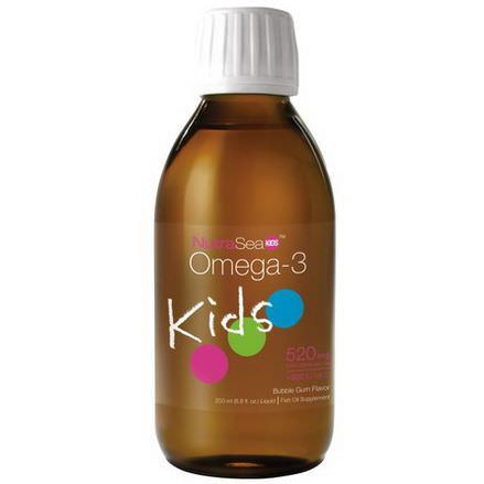 Ascenta, NutraSea Kids, Omega-3, Bubble Gum Flavor 200ml