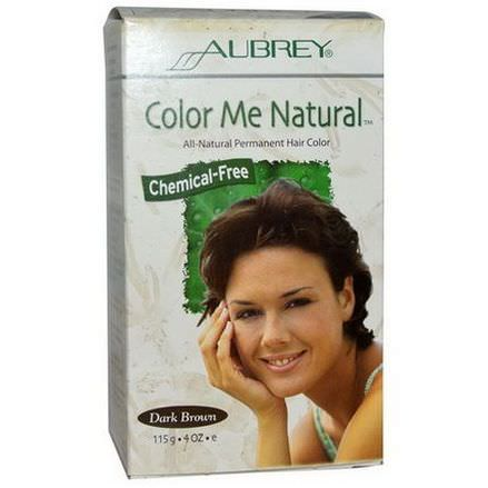 Aubrey Organics, Color Me Natural, 100% Natural Permanent Hair Color, Dark Brown 115g