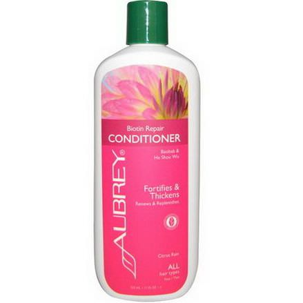 Aubrey Organics, Conditioner, Biotin Repair, Citrus Rain 325ml