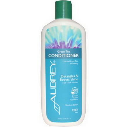 Aubrey Organics, Green Tea Conditioner, Matcha Green Tea&Ginseng, Mandarin Splash 325ml