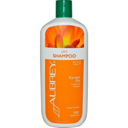 Aubrey Organics, J.A.Y. Shampoo, Keratin Fix, Dry/Replenish 473ml
