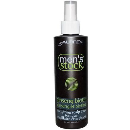 Aubrey Organics, Men's Stock, Energizing Scalp Tonic, Ginseng Biotin 237ml