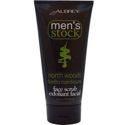 Aubrey Organics, Men's Stock, Face Scrub Exfoliant Facial, North Woods 177ml