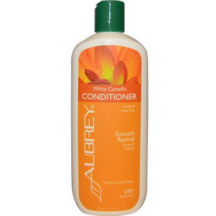 Aubrey Organics, White Camellia Conditioner, Smooth Revival, Dry/Replenish 325ml