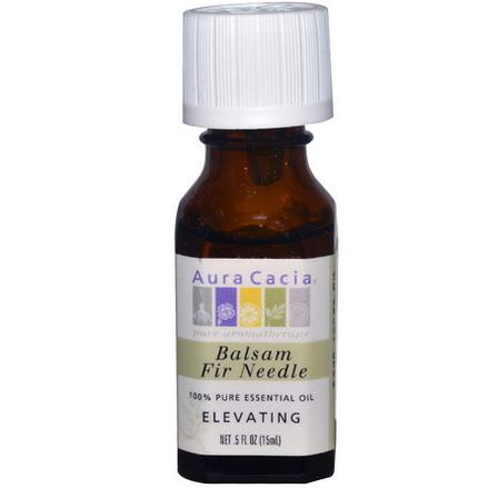 Aura Cacia, 100% Pure Essential Oil, Balsam Fir Needle, Elevating 15ml