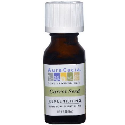 Aura Cacia, 100% Pure Essential Oil, Carrot Seed 15ml