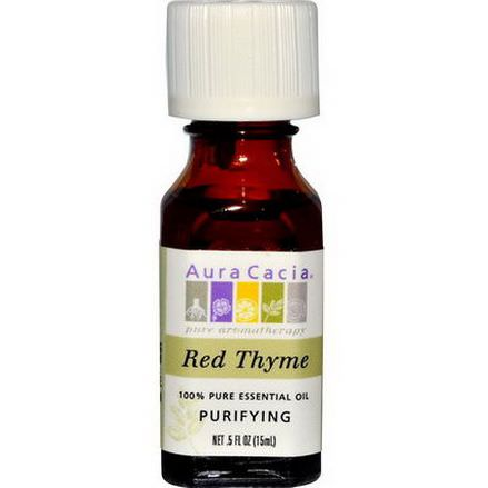 Aura Cacia, 100% Pure Essential Oil, Red Thyme, Purifying 15ml