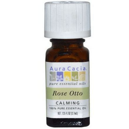 Aura Cacia, 100% Pure Essential Oil, Rose Otto 3.7ml