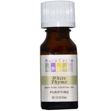Aura Cacia, 100% Pure Essential Oil, White Thyme, Purifying 15ml