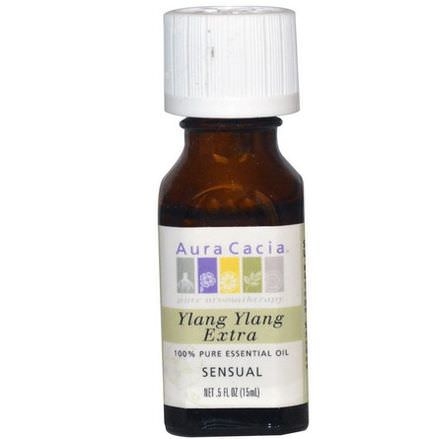 Aura Cacia, 100% Pure Essential Oil, Ylang Ylang Extra 15ml