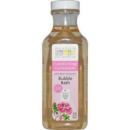 Aura Cacia, Aromatherapy Bubble Bath, Comforting Geranium 384ml