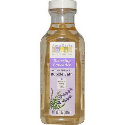Aura Cacia, Aromatherapy Bubble Bath, Relaxing Lavender 384ml