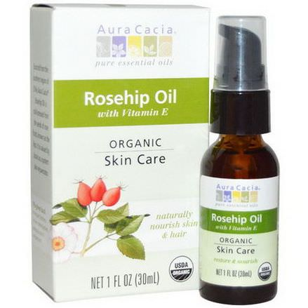 Aura Cacia, Organic, Rosehip Oil, Skin Care 30ml