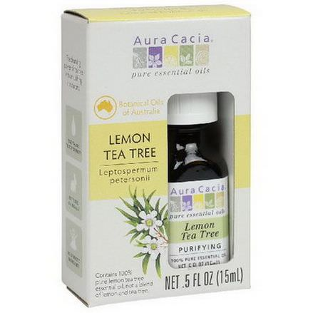 Aura Cacia, Pure Essential Oils, Lemon Tea Tree 15ml