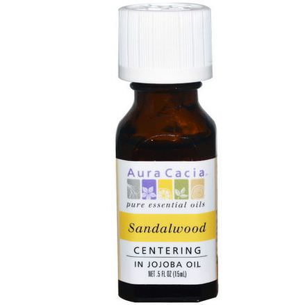 Aura Cacia, Pure Essential Oils, Sandalwood 15ml