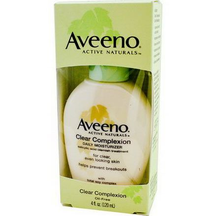 Aveeno, Active Naturals, Clear Complexion, Daily Moisturizer 120ml