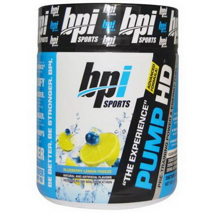 BPI Sports, Pump HD, Blueberry Lemon Freeze 250g