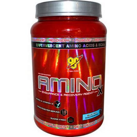 BSN, AminoX, Endurance&Recovery Agent, Non-Caffeinated, Blue Raz 1.01 kg