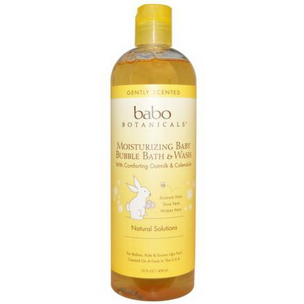 Babo Botanicals, Moisturizing Bubble Bath&Wash, Oatmilk Calendula 450ml