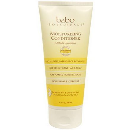 Babo Botanicals, Moisturizing Conditioner, Oatmilk Calendula 180ml