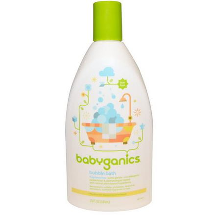 BabyGanics, Bubble Bath, Fragrance Free 591ml
