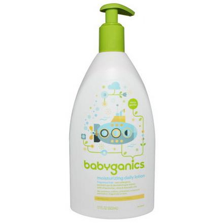BabyGanics, Extra Gentle, Moisturizing Daily Lotion, Fragrance Free 502ml