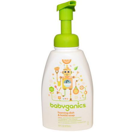 BabyGanics, Foaming Dish&Bottle Soap, Citrus 473ml