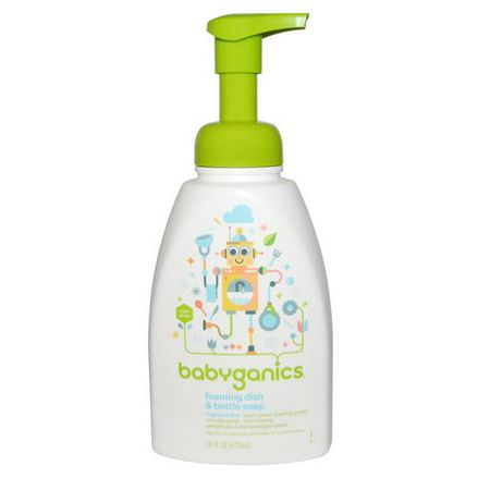 BabyGanics, Foaming Dish&Bottle Soap, Fragrance Free 473ml